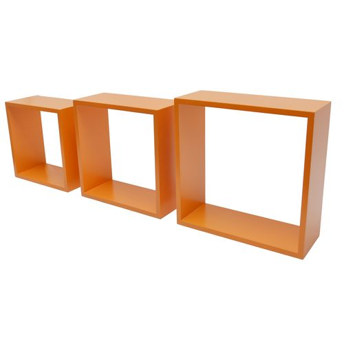 Etagère cube Duraline '3TC' orange 30 x 30 x 12 cm - 3 pcs