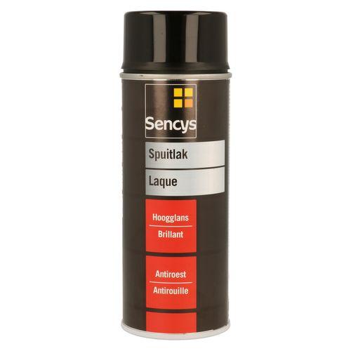 Peinture en spray Sencys noir foncé brillant 400 ml