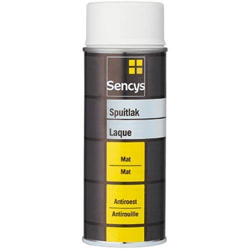 Sencys spuitlak mat zwart 400ml
