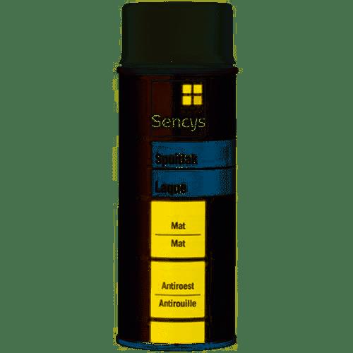 Sencys lak zwart mat 400ml
