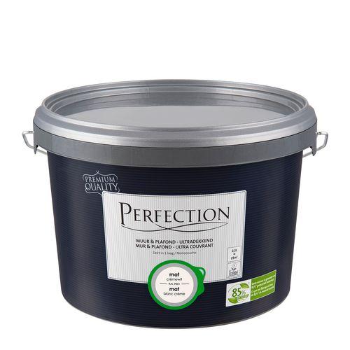 Peinture latex Perfection 'Mur & Plafond Ultra Couvrant' blanc crème mat 2,5L