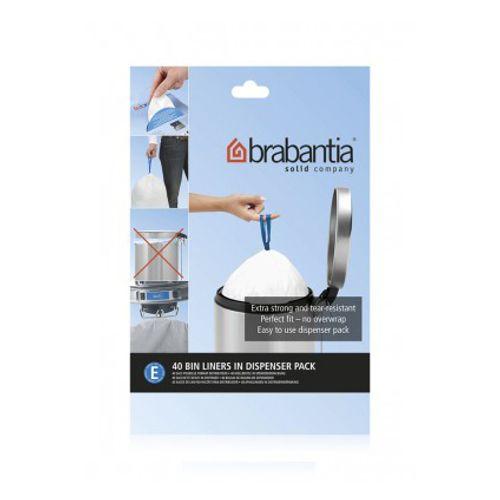 Distributeur sac poubelle Brabantia 'Code E' 20L 40pc