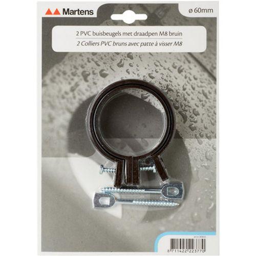 Martens beugel+pen 60mm M6  bruin