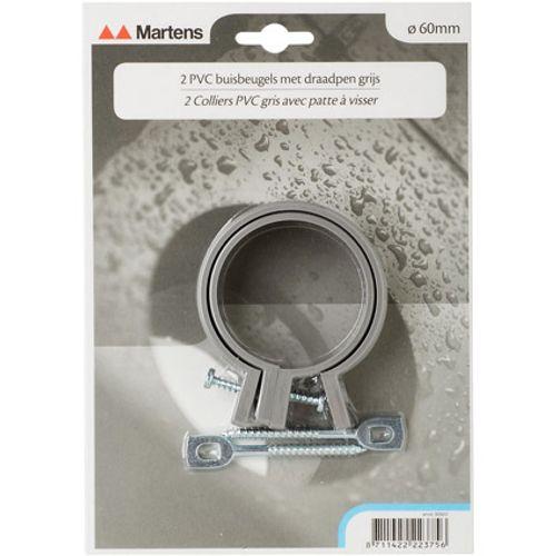 Martens beugel+pen 60mm M6  grijs