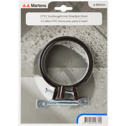 Martens beugel+pen 80mm M6  bruin