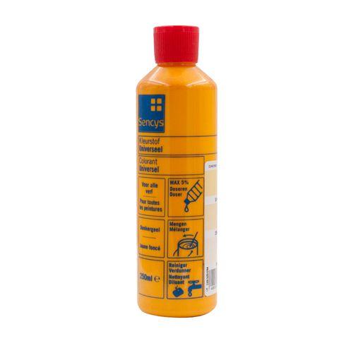 Sencys kleurstof universeel donkergeel 250ml