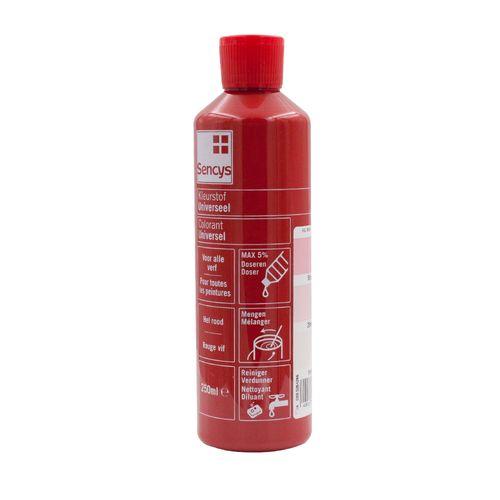 Sencys kleurstof universeel hel rood 250ml