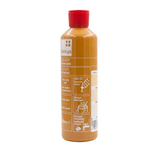 Sencys kleurstof universeel oxide geel 250ml