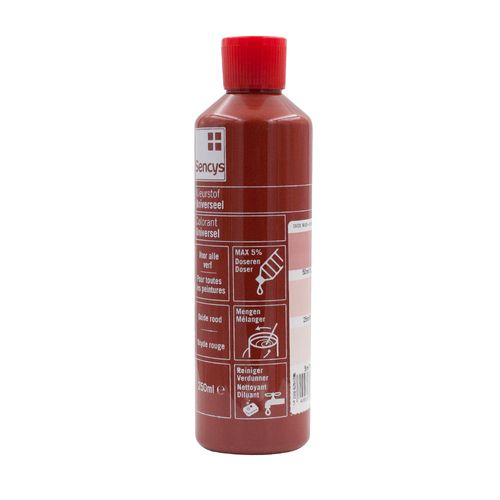 Sencys kleurstof Universeel oxide rood 250ml