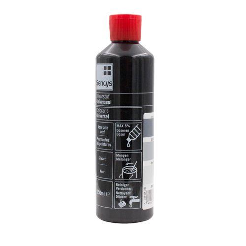 Sencys kleurstof universeel zwart 250ml