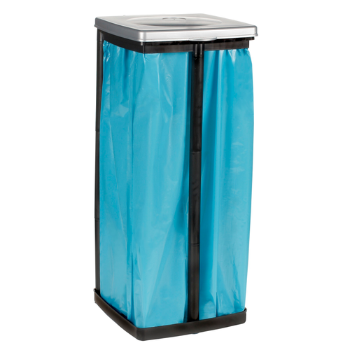 Support sac poubelle Keeeper 60-120L noir-gris