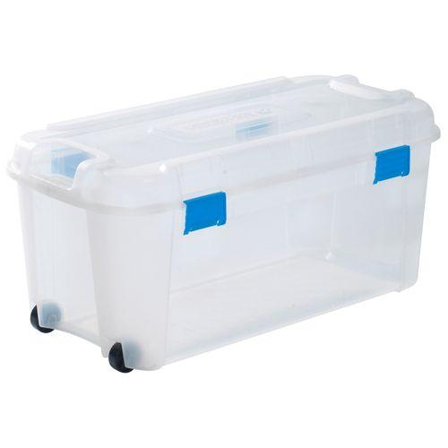 Boîte de rangement Keter Totem transparent 80L