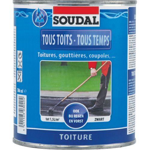 Soudal dakbedekking 'Elk Dak Elk Weer' zwart 750 ml