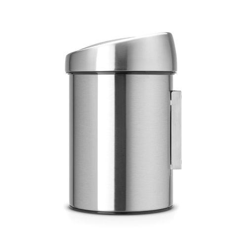 Poubelle Brabantia Touch Bin fingerprint proof matt steel 3L