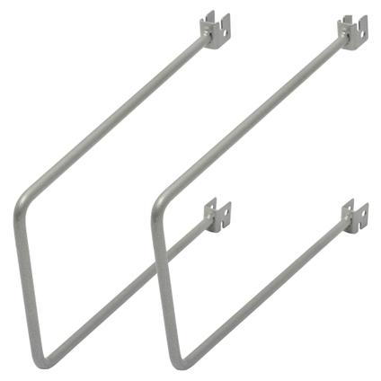 Duraline flexibele steunset mat zilver 20 cm - 2 stuks