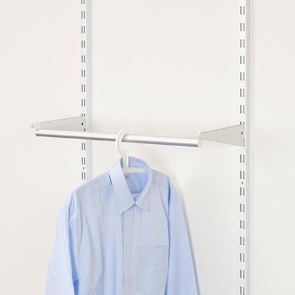 Barre de garde-robe Duraline 'Storage' blanc 32cm