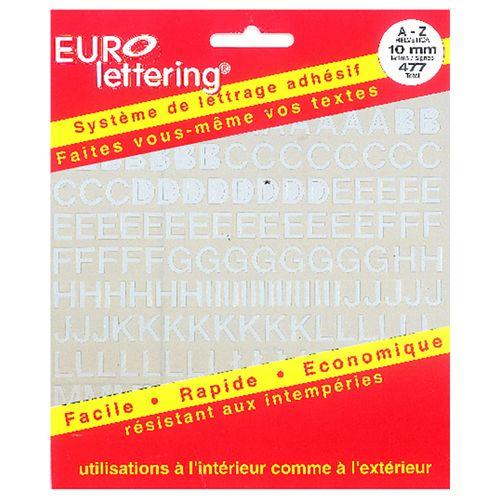 Pickup boekje zelfklevende letters Eurol 10mm wit