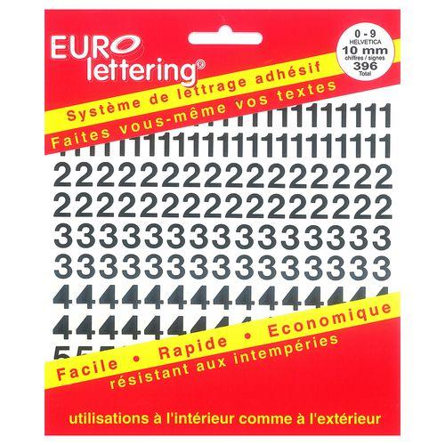 Pickup boekje zelfklevende cijfers Eurol 10mm zwart