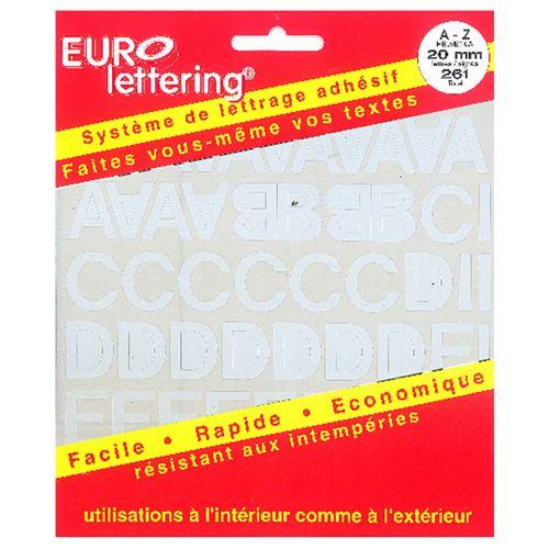 Pickup boekje zelfklevende letters Eurol 20mm wit