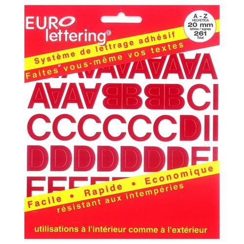 Pickup boekje zelfklevende letters Eurol 20mm rood