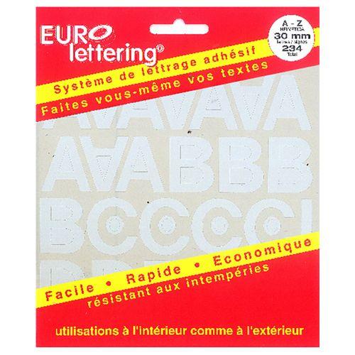 Pickup boekje zelfklevende letters Eurol 30mm wit