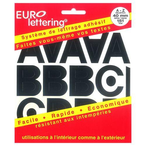 Pickup boekje zelfklevende letters Eurol 40mm zwart