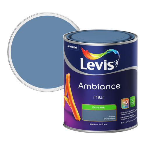 Levis muurverf 'Ambiance' extra mat orkaan 1 L