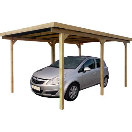 Solid carport 'P711' geïmpregneerd hout 500 x 300 cm
