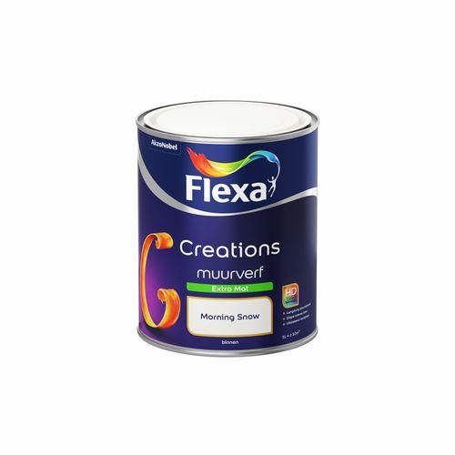 Flexa muurverf Creations extra mat wit morning snow 1L