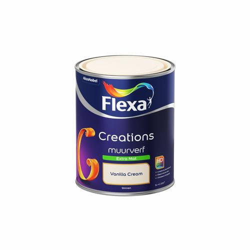 Flexa muurverf Creations extra mat 3001 vanilla cream 1L