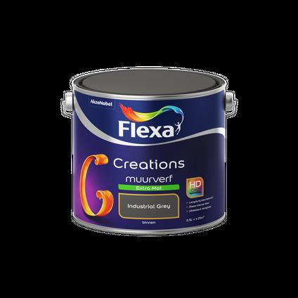 Flexa muurverf Creations extra mat 3036 industrial grey 2,5L