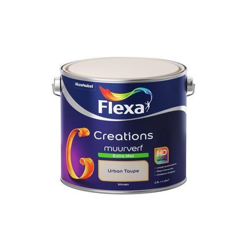 Flexa muurverf Creations extra mat 3024 urban taupe 2,5L