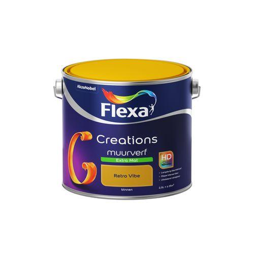 Flexa muurverf Creations extra mat 3021 retro vibe 2,5L