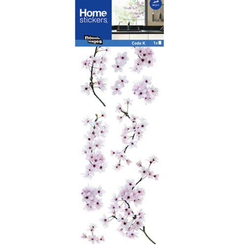 Sticker pour vitre cerisier en fleurs Nouvelles Images 24 x 69 cm