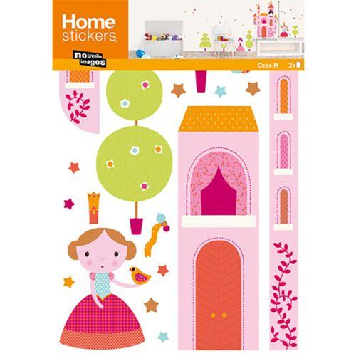 Sticker kids princesses Nouvelles Images 49 x 69 cm