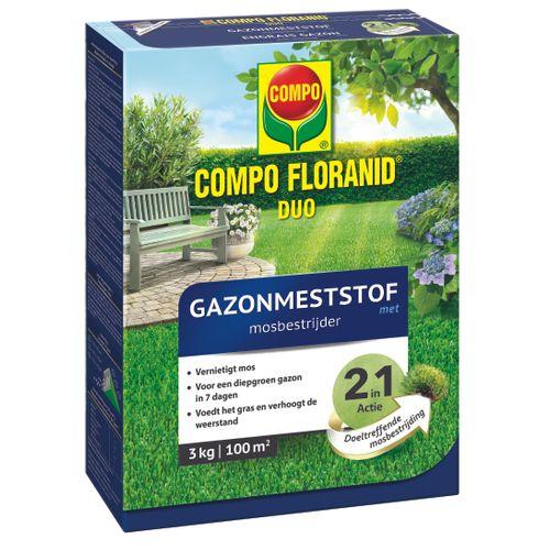 Engrais gazon avec anti-mousse Compo 'Floranid Duo' 3 kg