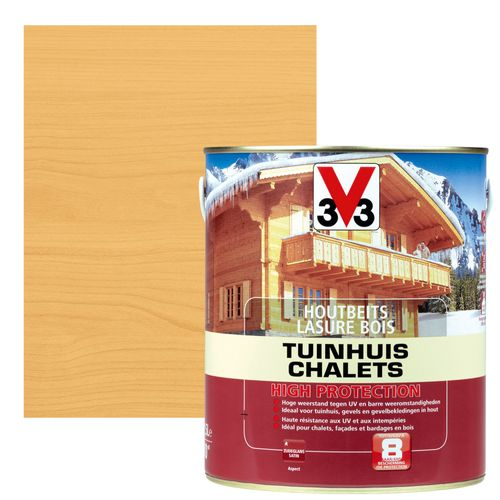 Lasure chalets V33 high protection pin scandinave satiné 2,5L