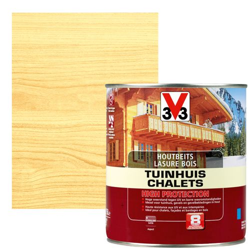 Lasure chalets V33 high protection inColore satiné 750ml