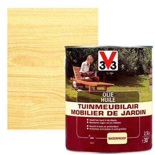 Huile mobilier de jardin V33 inColore mat 2,5L