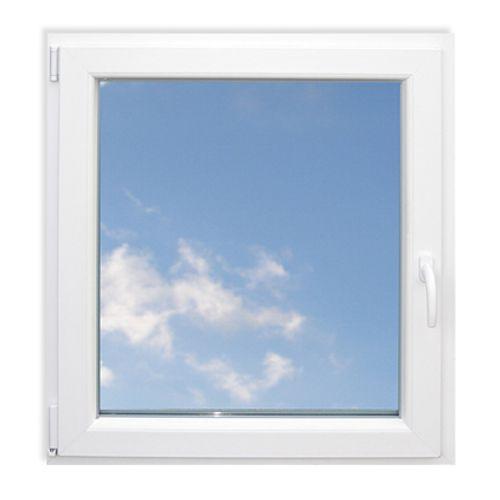 Fenêtre oscillo-battante simple Eco gauche 'SP0706L' PVC blanc 78 x 66 cm