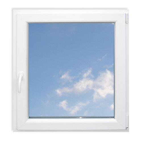 Draaiekiep raam simpel Eco rechts 'SP0708R' PVC wit 78 x 86 cm