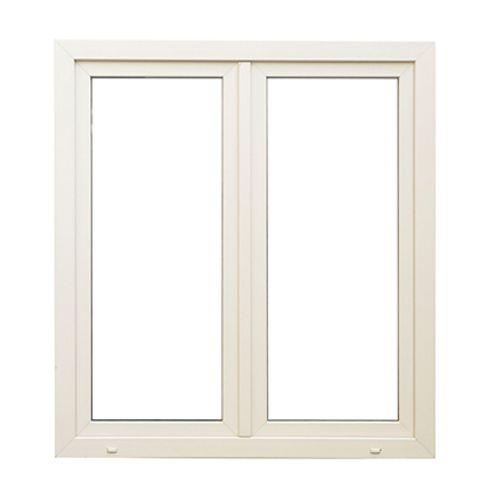 Fenêtre oscillo-battante double 'SP1112' PVC blanc 118 x 126 cm
