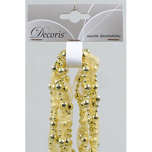Decoris kralenslinger lint goud 2,7 m