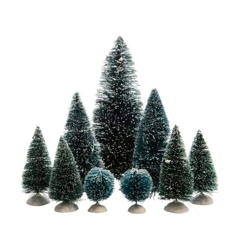 Decoris kerstboombeeldje groen 9 stuks