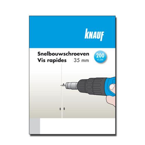 Vis rapides Knauf 35 mm - 200 pcs