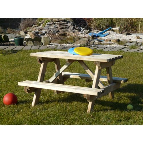 Kinderpicknicktafel met banken 91 x 89 cm