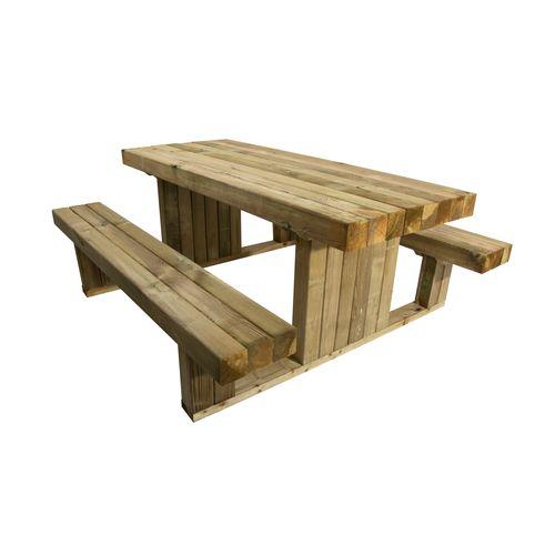 Houten picknicktafel 180x159x73cm