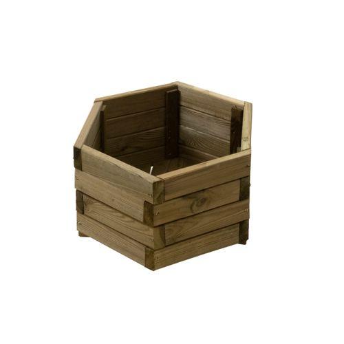 Solid bloembak eco hexa 40x27cm
