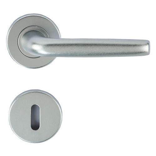 Baseline deurklinken met rozetten en sleutelplaten aluminium -2 stuks