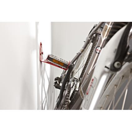 Crochet Mottez 1 vélo mural rouge